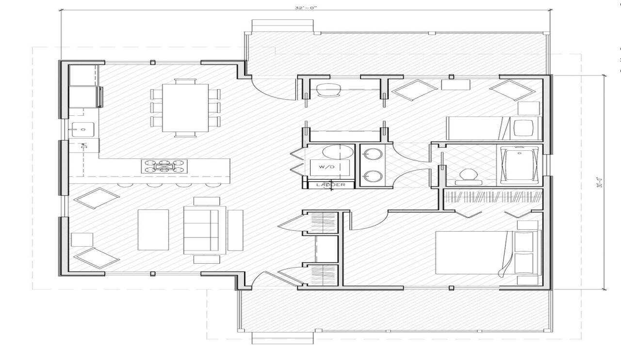 Small house plans under 1000 sq ft simple small house for 3d house plans in 1000 sq ft