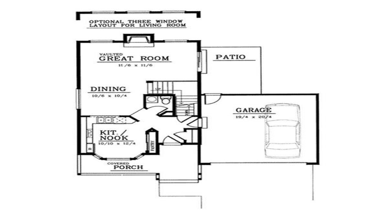 Small vintage country farmhouse small country farmhouse for Country farmhouse floor plans