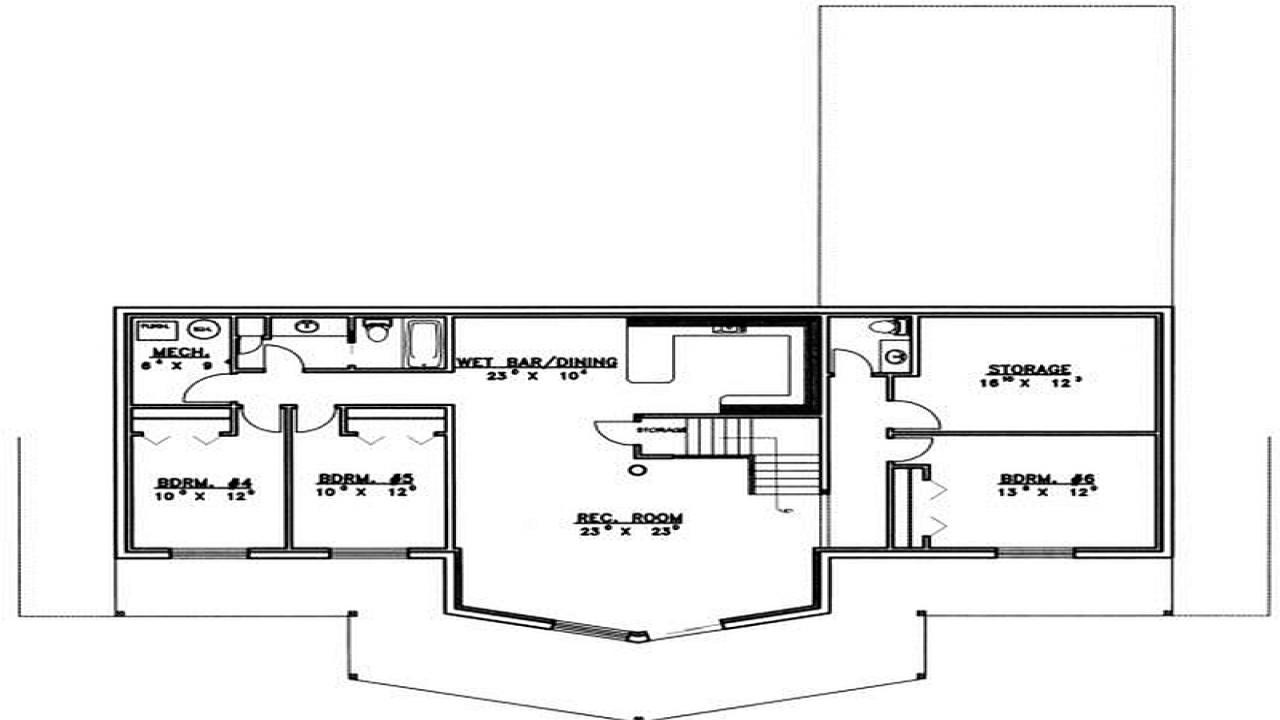 5 bedroom house plans with basement modern 5 bedroom house for 5 bedroom ranch house plans
