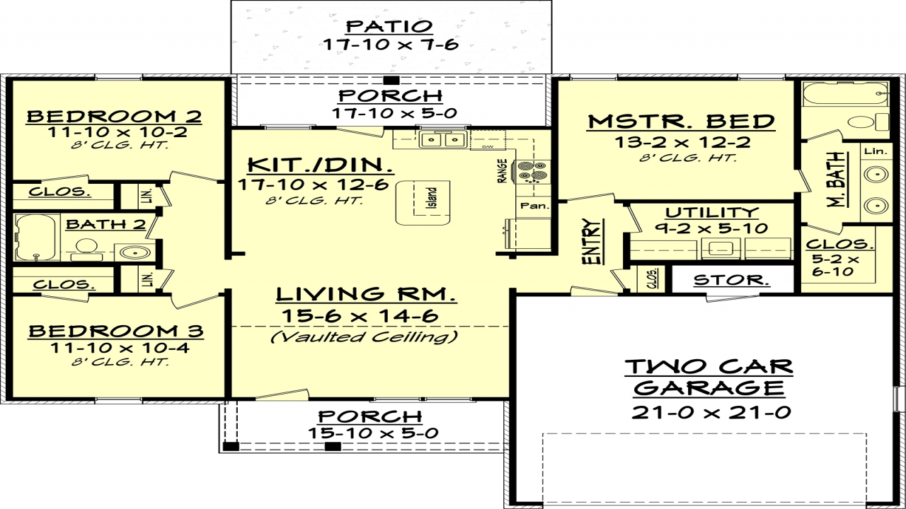 Bed bath 20 coupon printable beds 2 baths 1300 sq ft plan for 1300 sq ft house plans 2 story