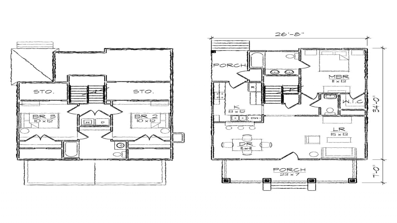 Bungalow house floor plans with dormers robinson bungalow for 2 story house plans with dormers