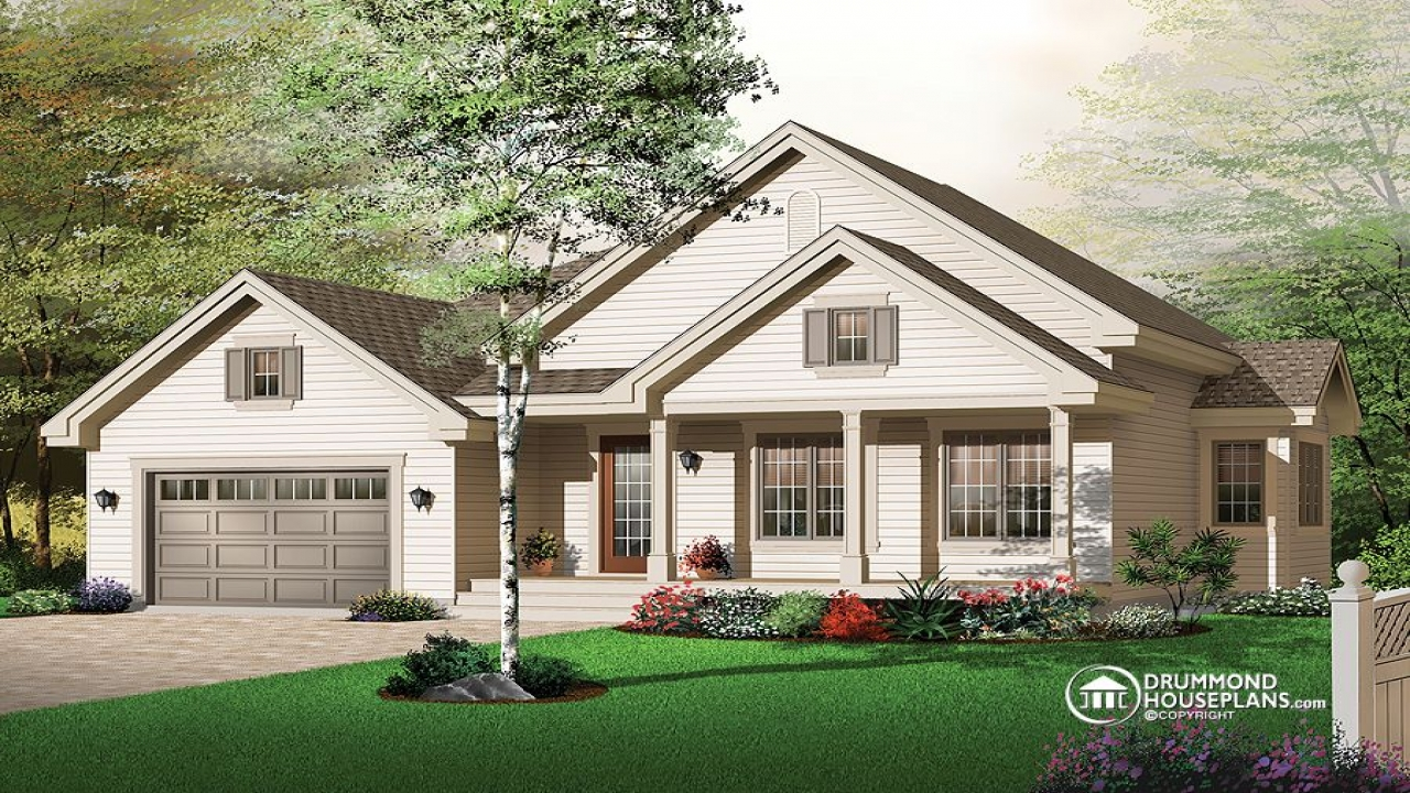Bungalow house plans with attached garage bungalow house for Craftsman style homes in okc