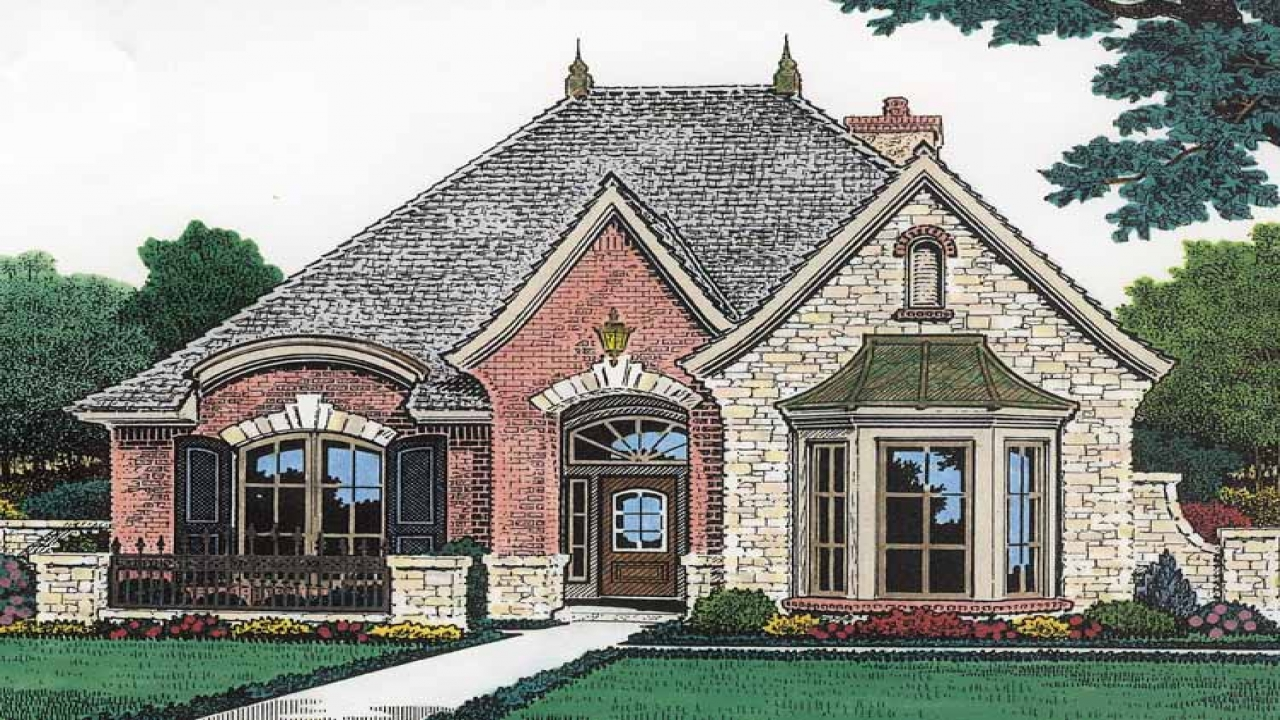 Tiny Home Designs: Country House Plans With Porches French Country House