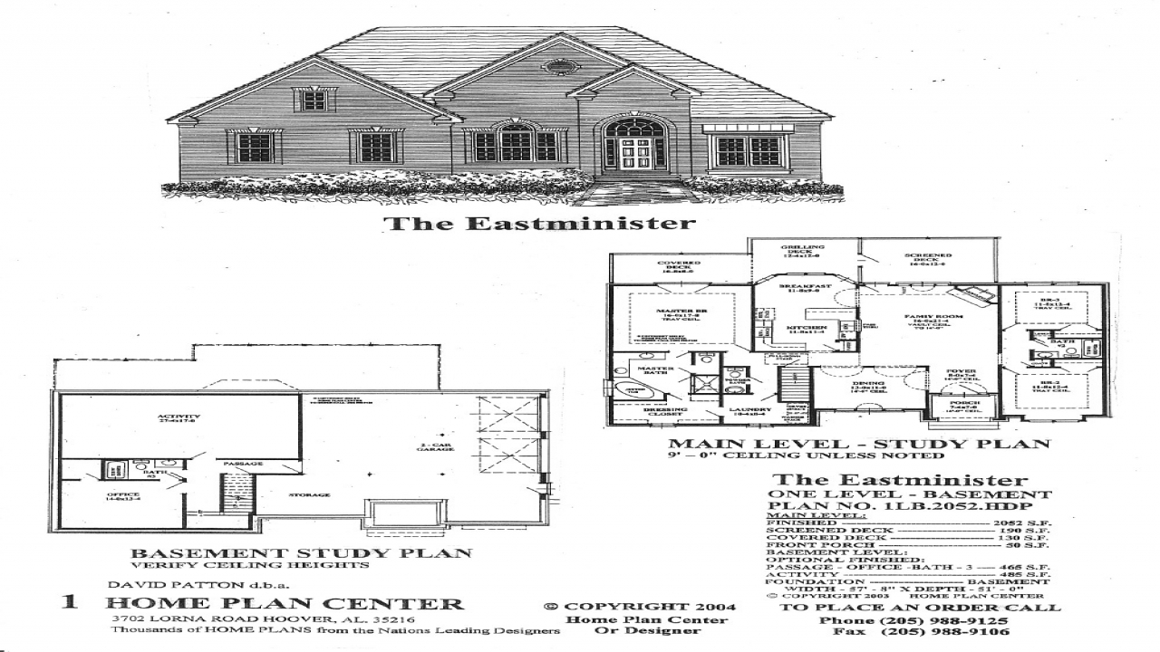 Custom single level house plans single level house plans for One level house plans with basement