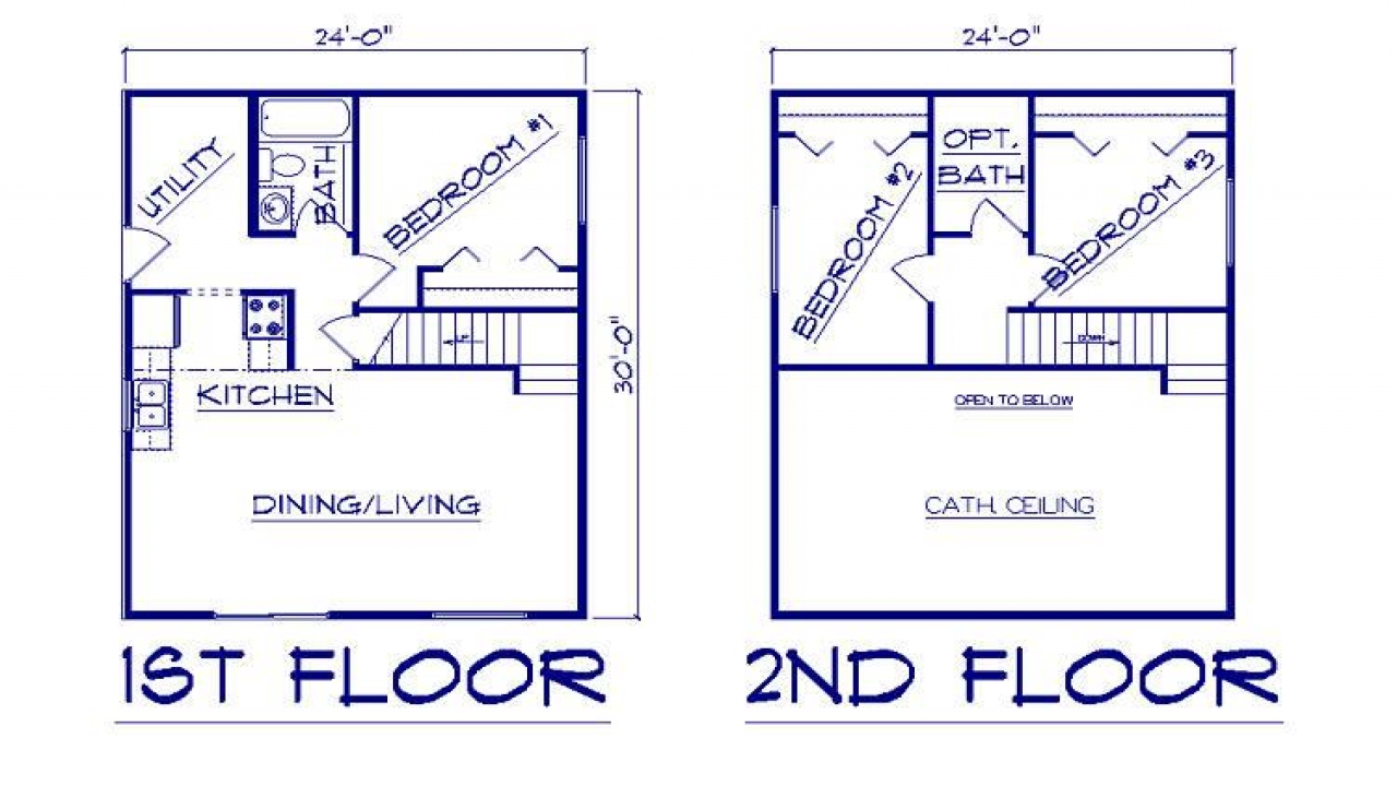 22 By 28 Frame: House Plans 28 X 30 22 X 28 Frame, 30 Wide House Plans