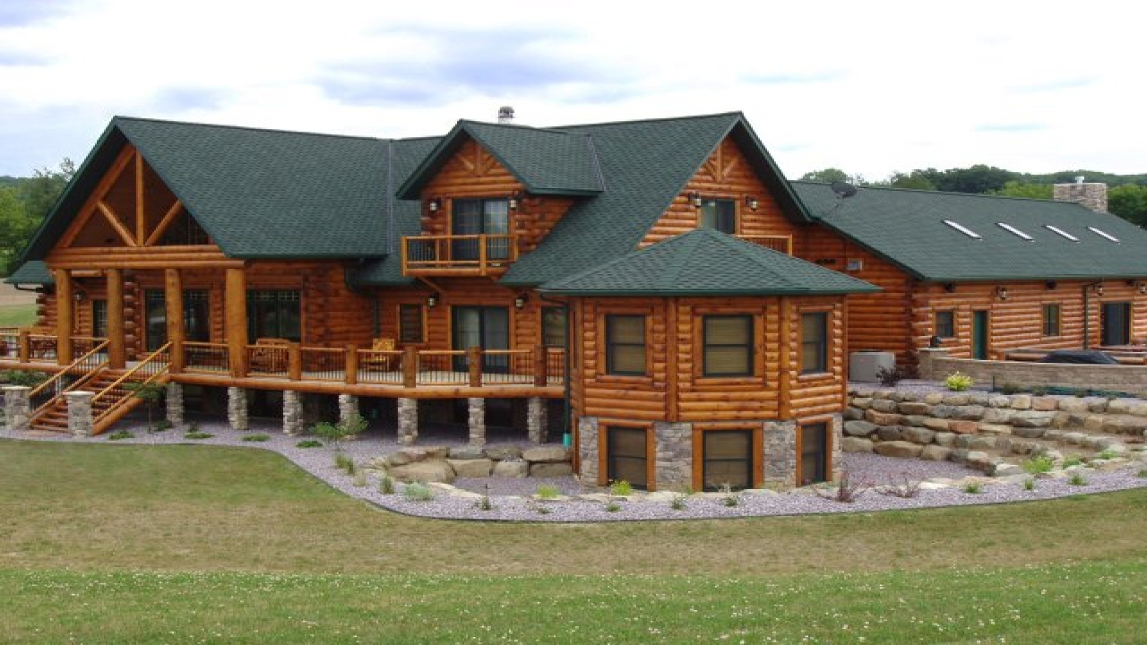 Luxury log home designs luxury log cabin homes cabin for Luxury log cabin builders