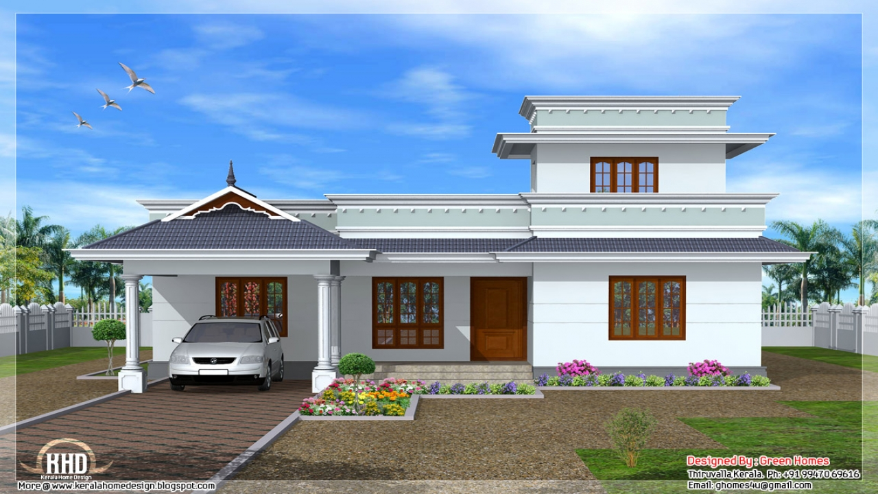 Modern Single Floor House Designs Kerala Single Floor ...