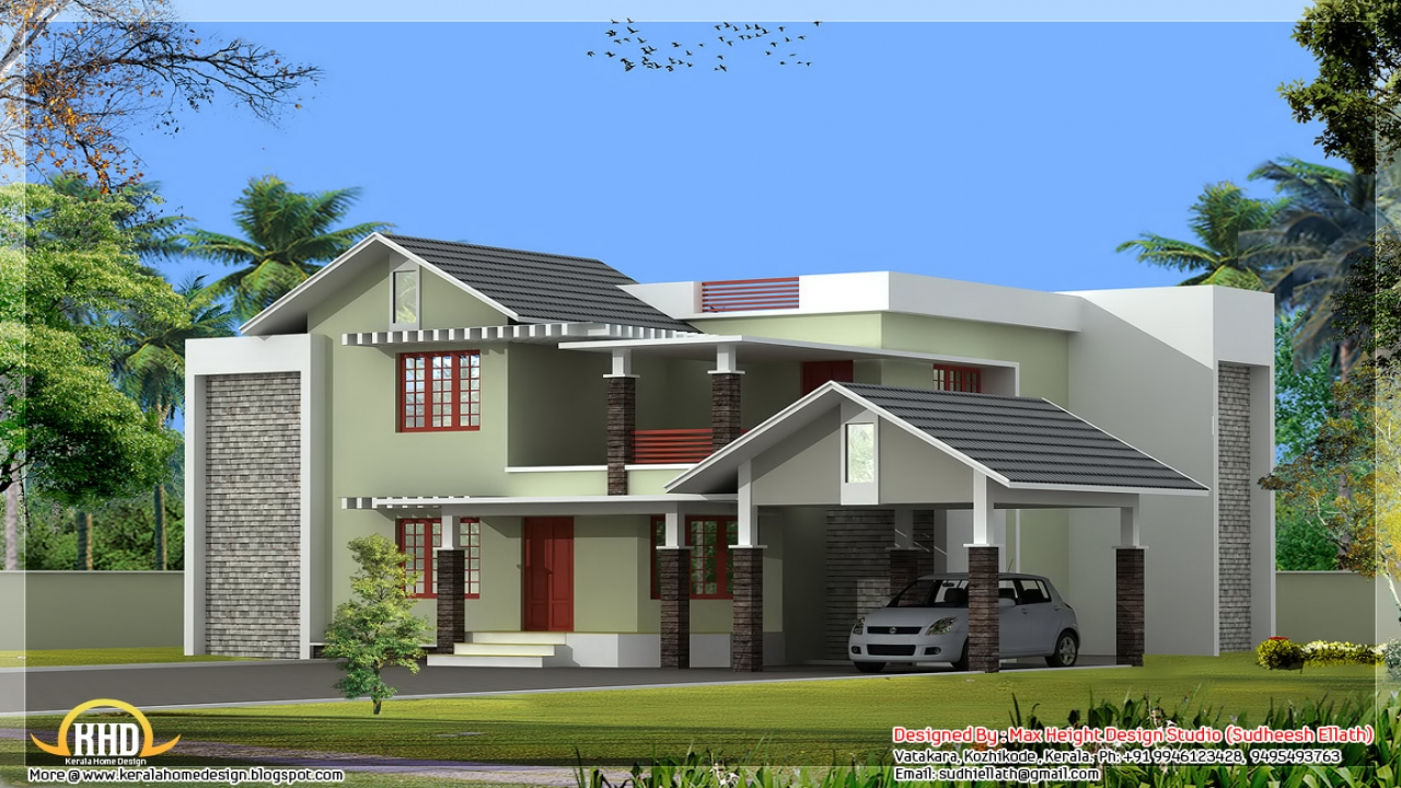 Most beautiful houses in kerala kerala house designs and for Beautiful house photos in kerala