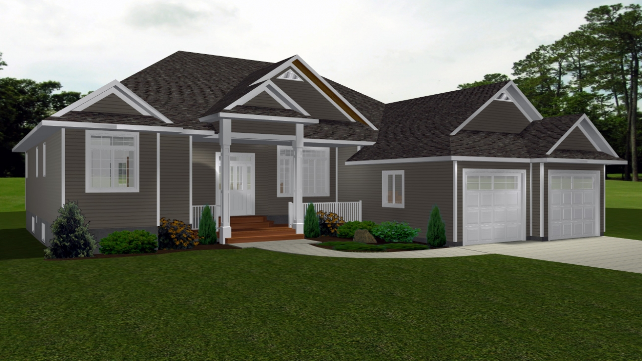 One story bungalow house plans canadian bungalow house for Single story cottage house plans