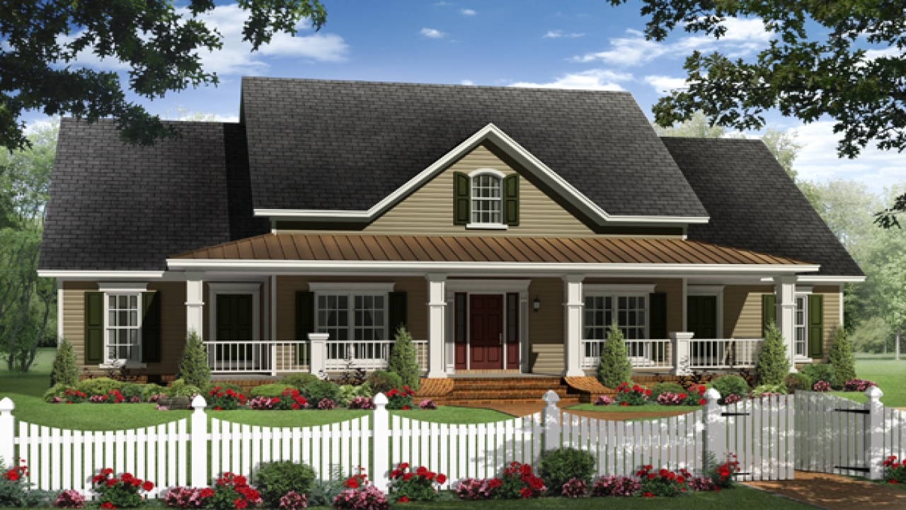 Ranch House Plans With Porches Country Ranch House Plans: most popular one story house plans