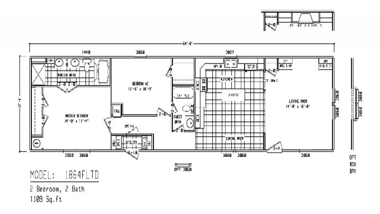 Single wide mobile home floor plans fleetwood single wide for 14 wide mobile home floor plans