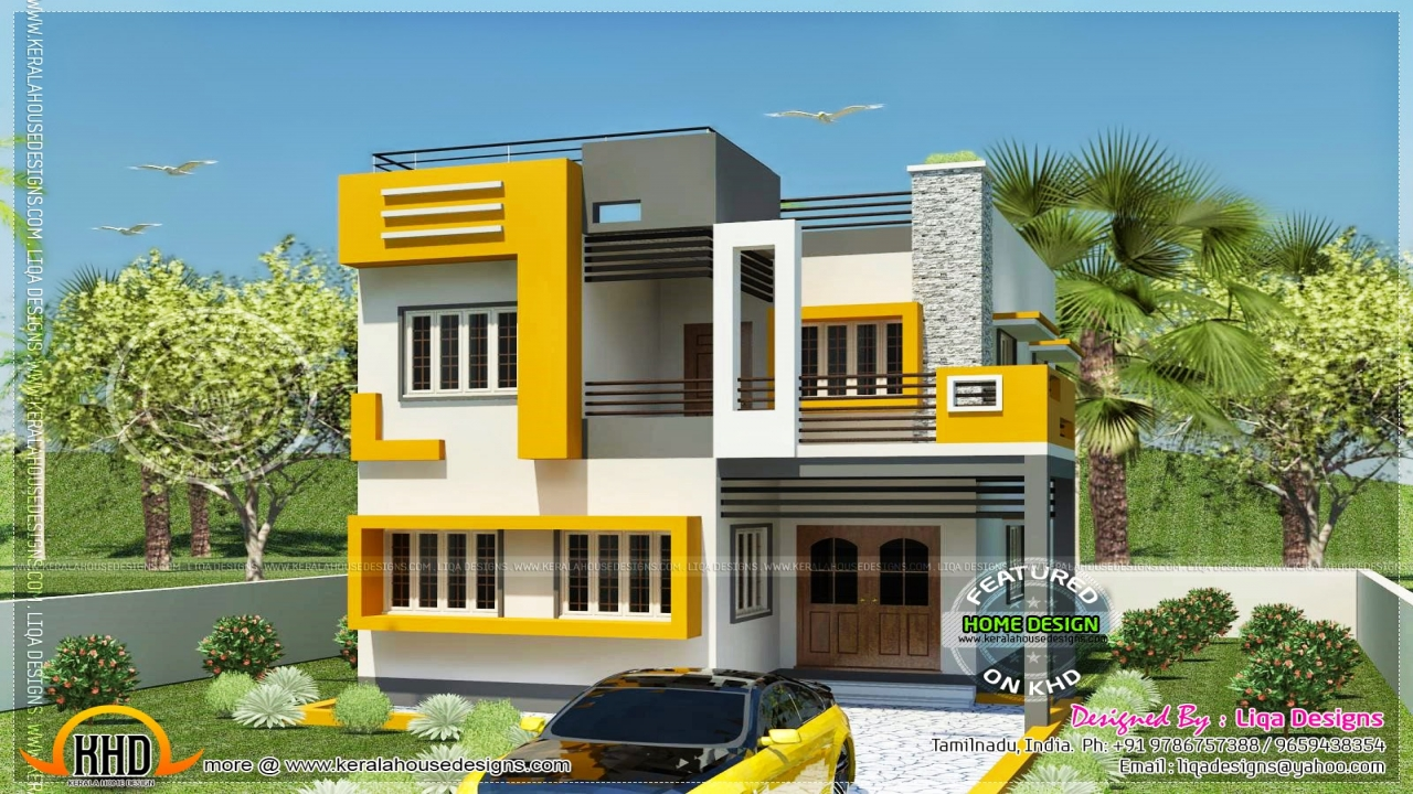 Tamil house modern style indian house plans bungalow for Indian style bungalow designs