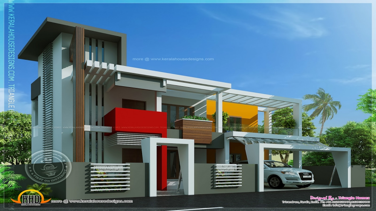 Unique modern contemporary house plans contemporary modern for Unique modern house designs
