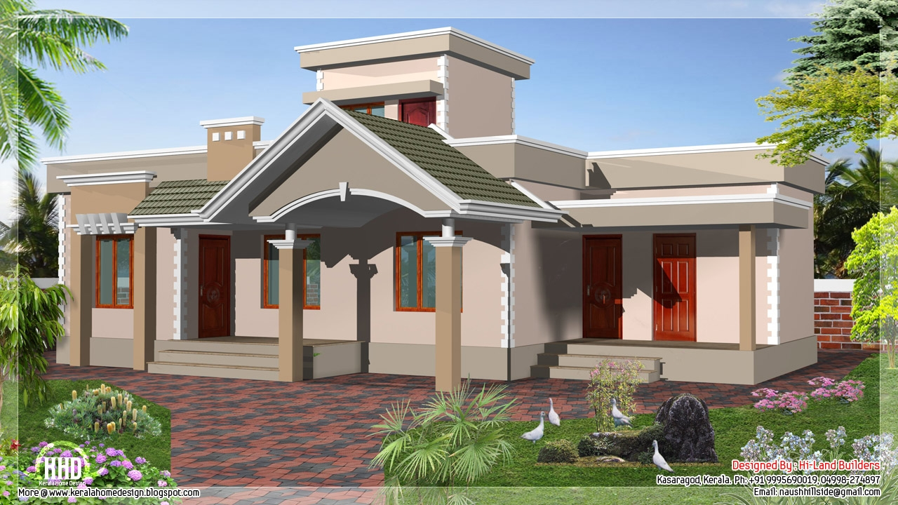1 floor house designs beautiful house plans designs one for Attractive home designs