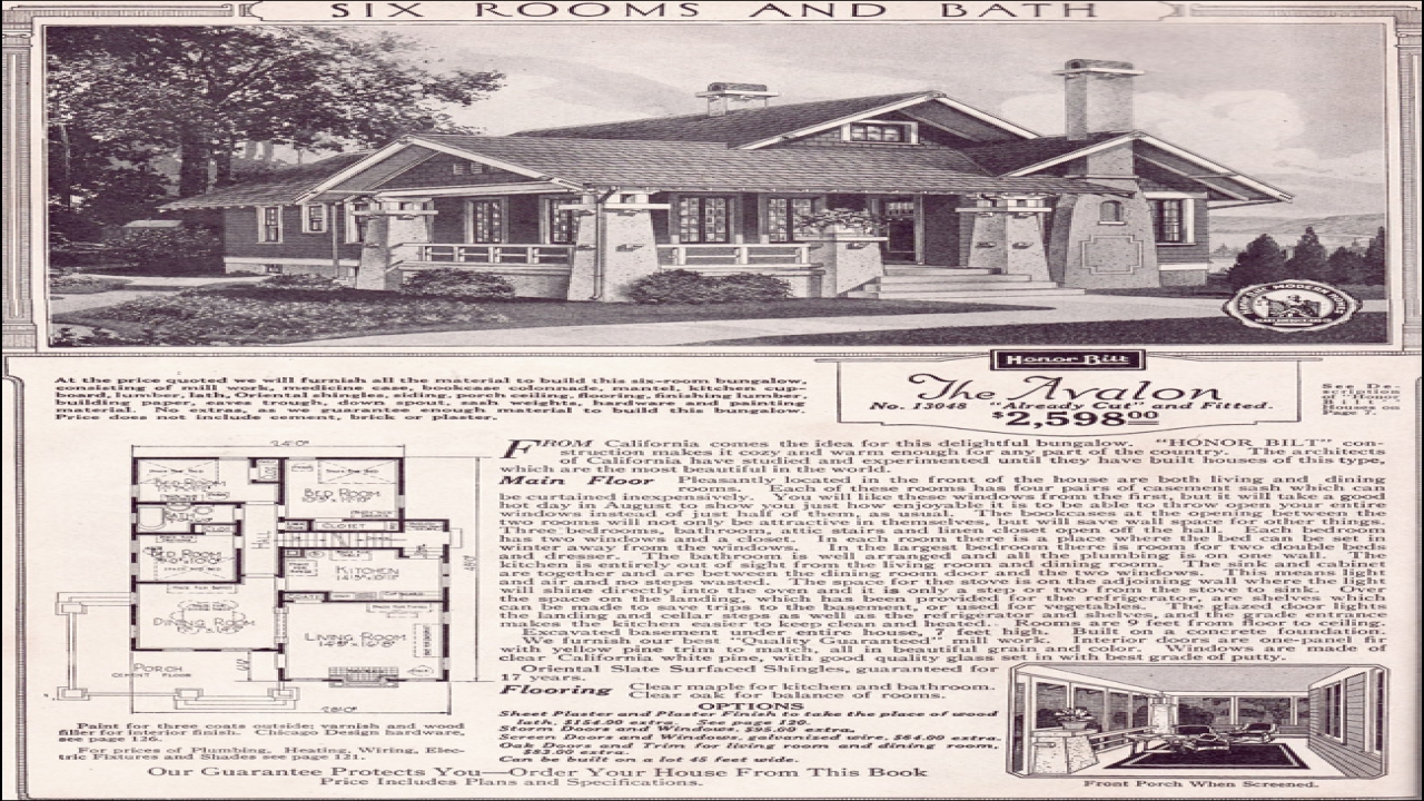 1920 Sears Home Kits Bungalows Sears Craftsman Bungalow House Plans California Style Home Plans