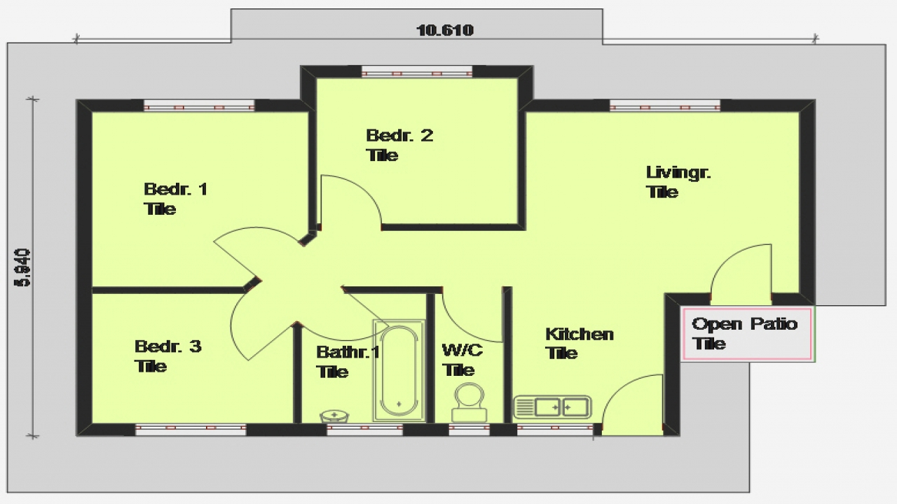 3 Bedroom House Plan South Africa 3 Bedroom Open Floor Plan Building House Plans Free