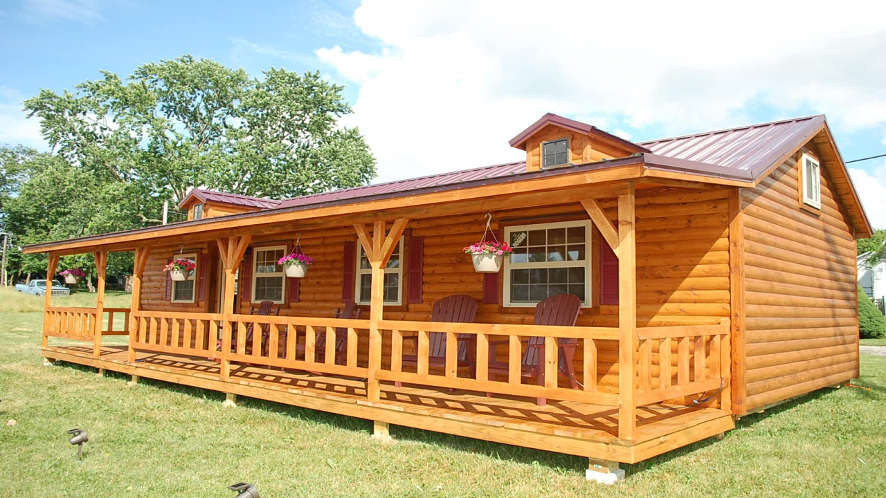 Amish Log Cabin Kits Amish Made Cabins Kentucky 2 Bedroom