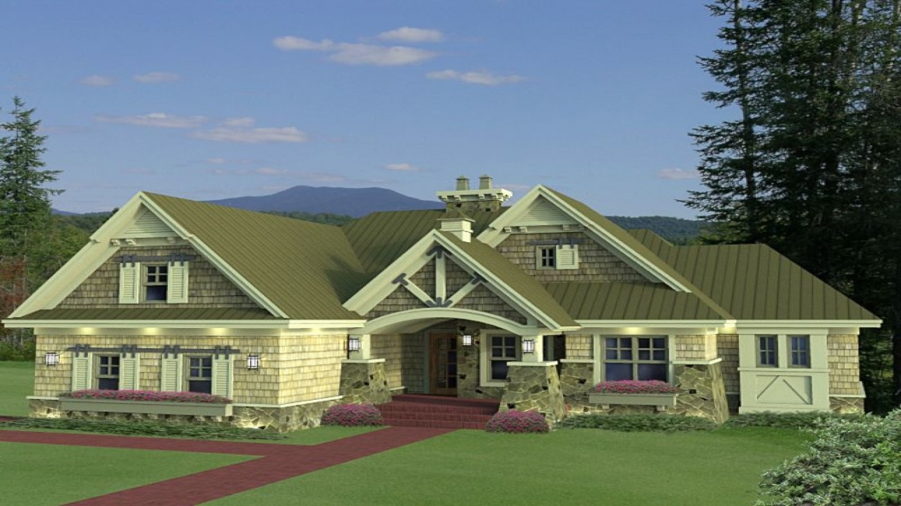 Award winning craftsman house plans craftsman style house for Houseplans com craftsman