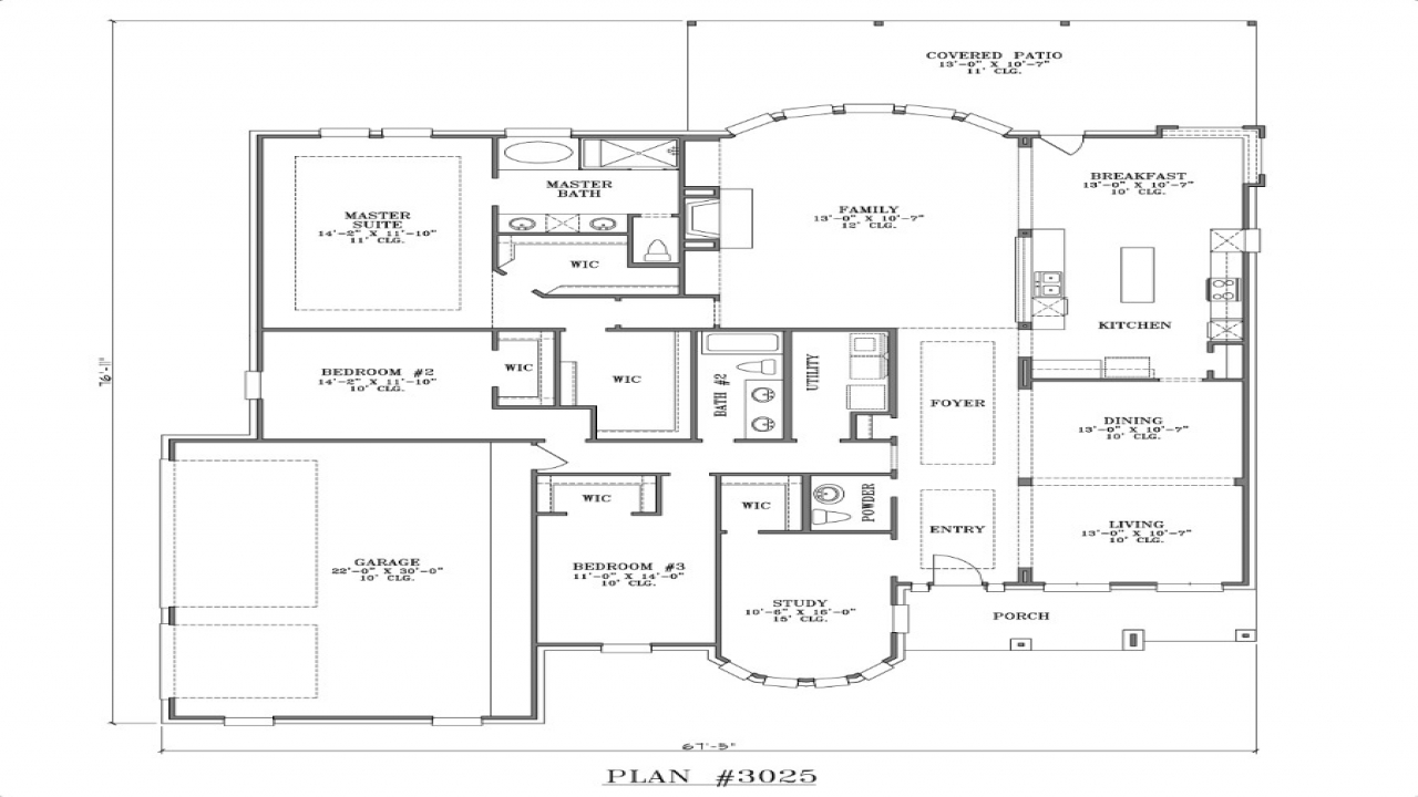 Best One Story House Plans One Story House Plans, house ... Simple One Story 3 Bedroom House Plans