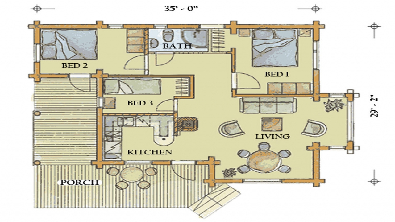 Large log home plans large log cabin home floor plans for Large cabin floor plans