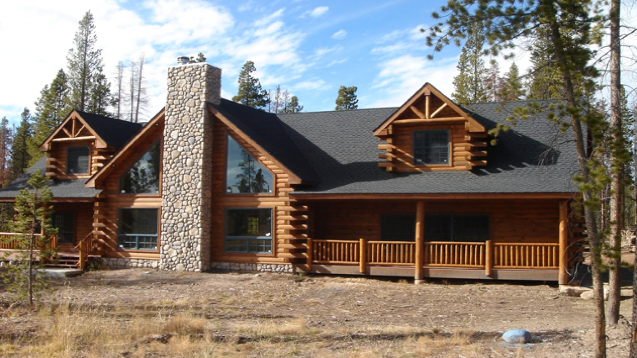 Modern log cabin homes modular log homes modern log homes for Modern cabin homes