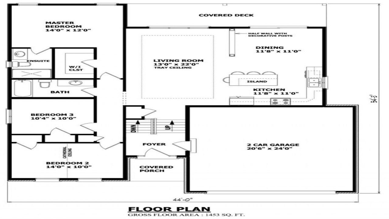 Raised Bungalow House Plans Canada Country Bungalow House