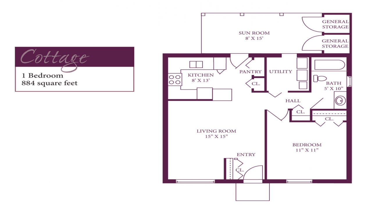 Retirement cottage interior retirement cottage floor plans one bedroom cottage floor plans - Www one bedroom cottage floor plans ...