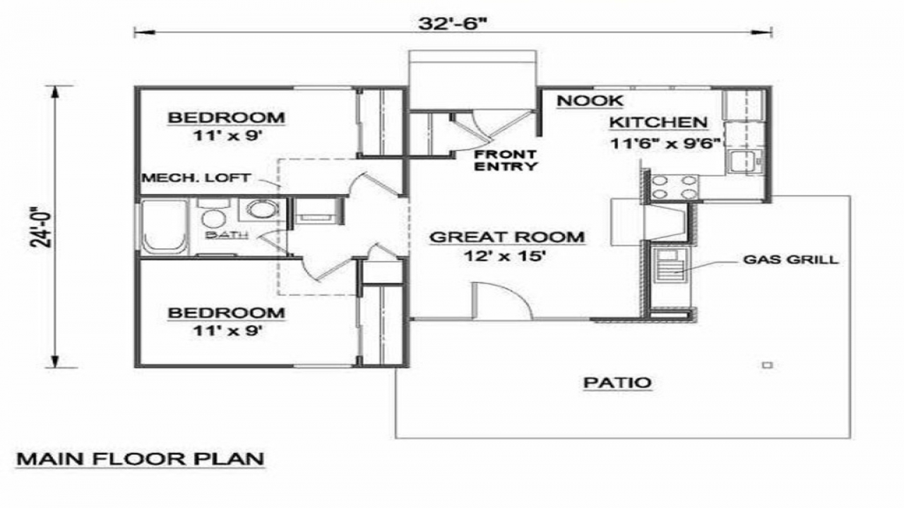 Small house plans under 700 sq ft 700 sq ft house plans for Small house plans under 700 sq ft