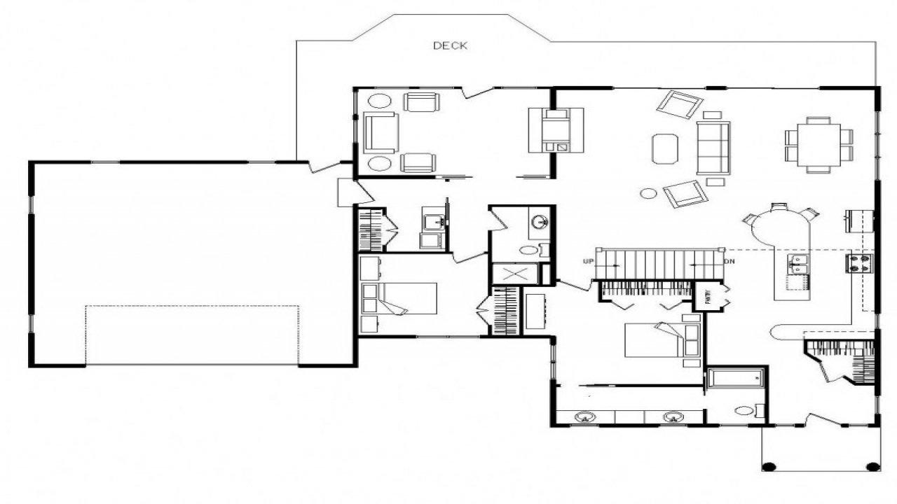 Small open kitchen living room open concept kitchen floor for Small open concept floor plans