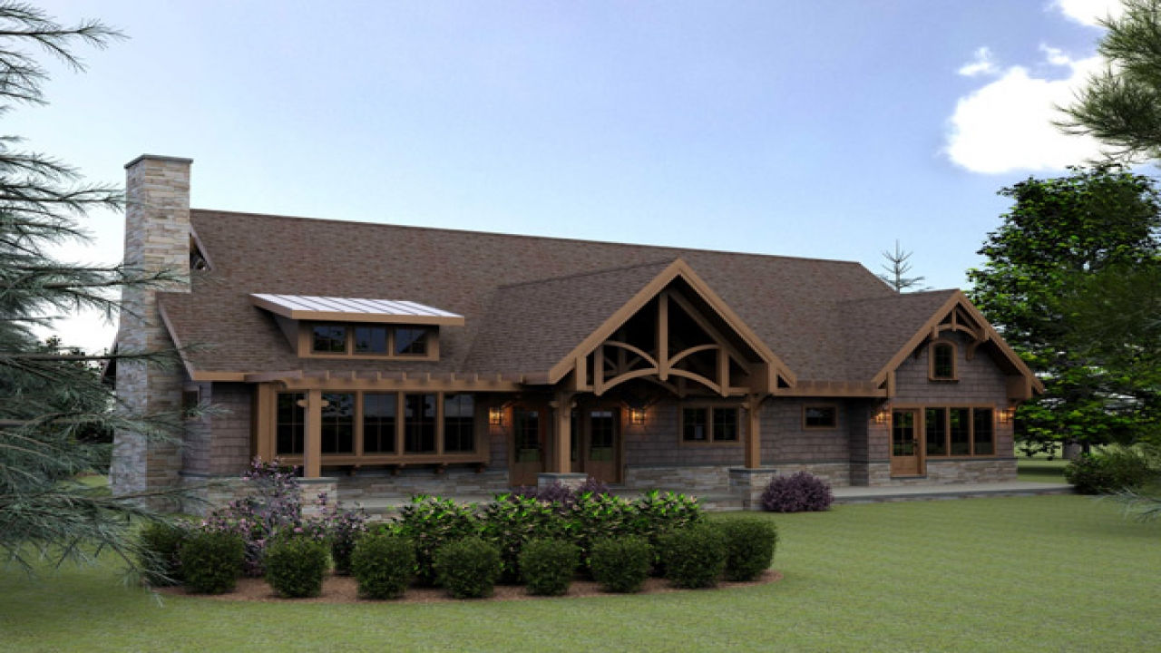 Small timber frame home house plans affordable timber for Ranch style timber frame homes