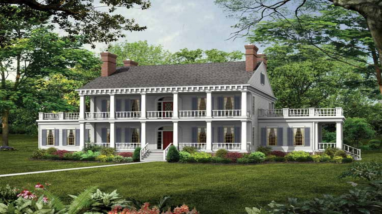 Southern plantation style house plans old southern for Hawaiian plantation home plans