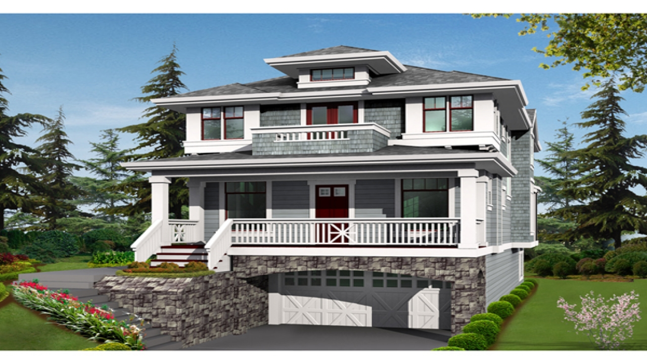 Two Story House Plans with Balconies Simple Two-Story ...