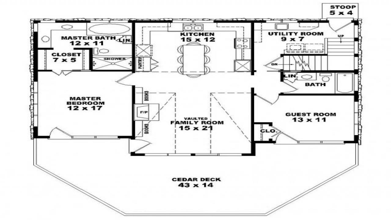 2 Bedroom 1 Bath House Plans 2 Bedroom 1 Bath House Small