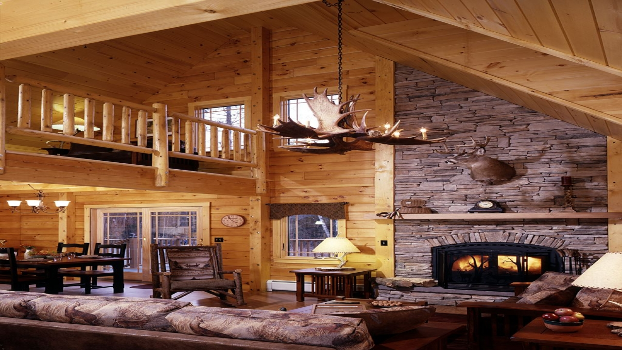 Beautiful Cozy Cabins Interiors Cabin Home Luxury Designs Treesranch