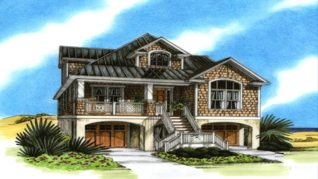 Coastal house plans on pilings florida coastal house plans costal home - Coastal home design ...
