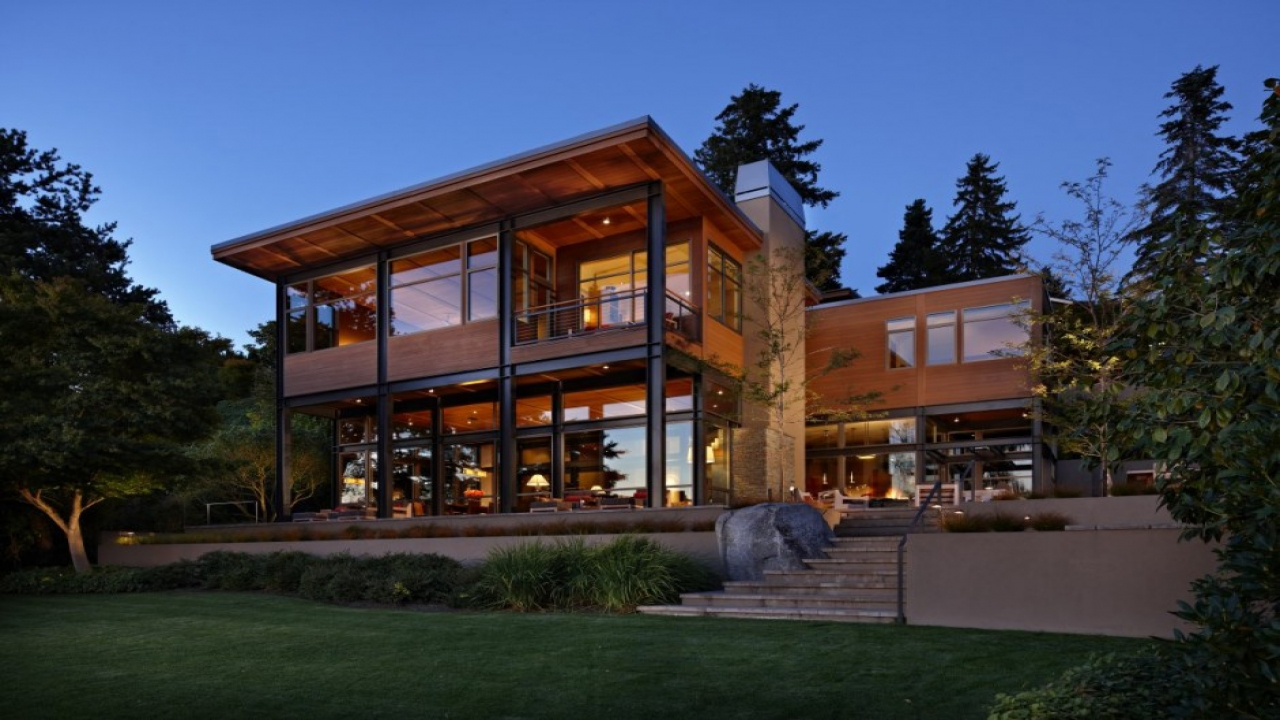 Contemporary Small House Plans Contemporary Lake House Plans home plans seattle Treesranch com
