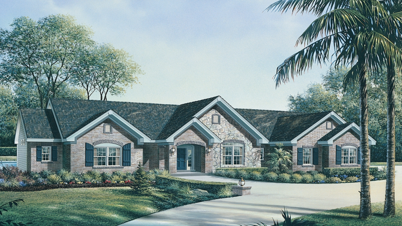 Country ranch house plans french country house plans one for French country ranch home plans