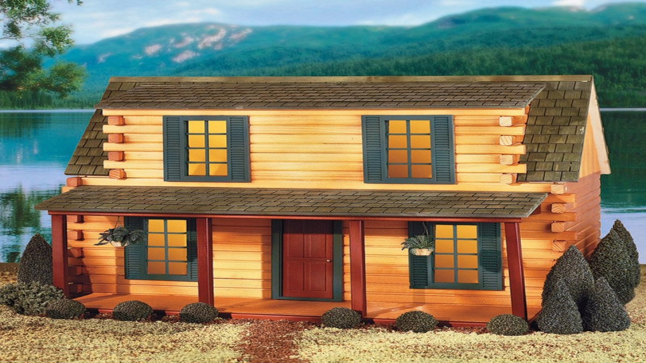 Log Cabin Dollhouse Finished Cabin Doll Kits Real Log