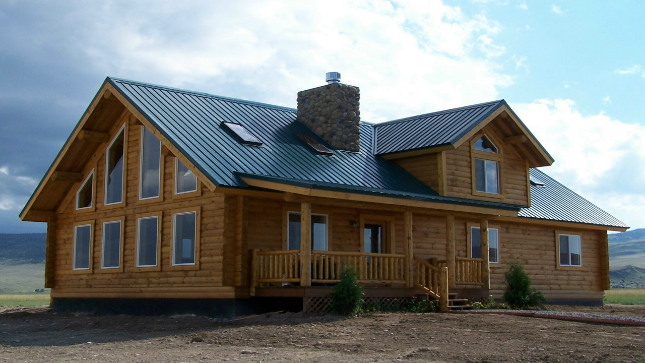 Log modular home manufacturers log cabin manufactured for Home builders price list