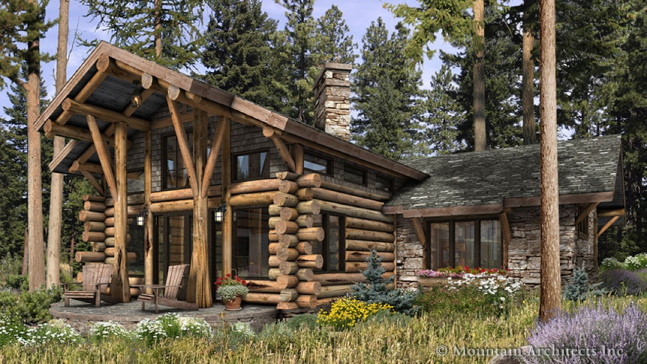 Luxury log cabin home plans luxury log cabin homes for Luxury cabin designs