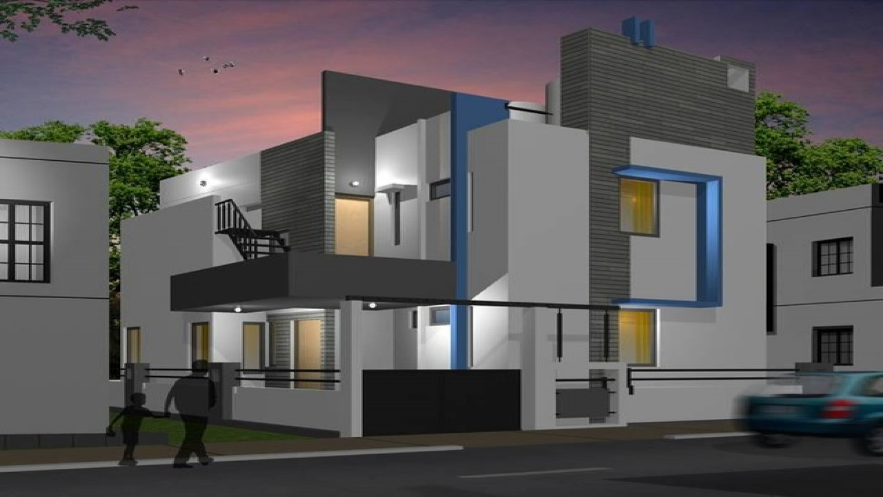 Small bungalow decorating small modern bungalow design for Small bungalow design india
