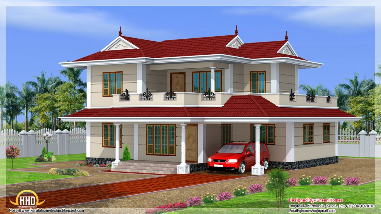 Small double storey house design double storey house for 3 storey building design in india