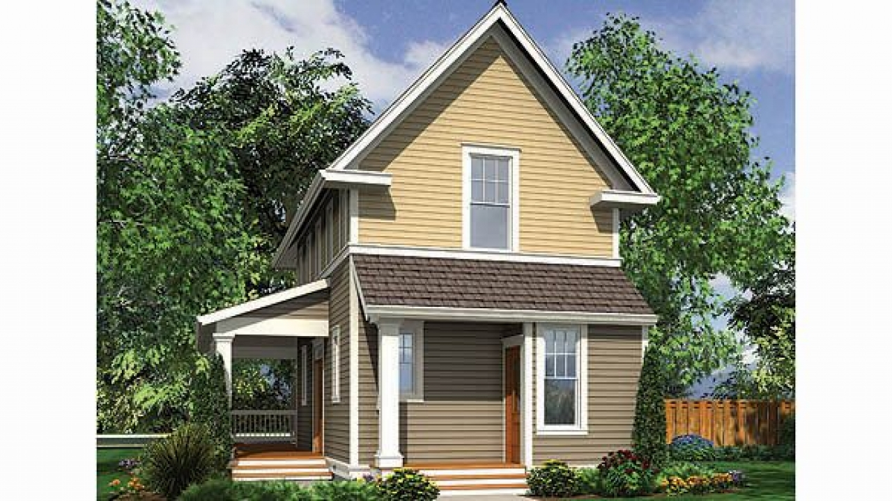 Small home house plans for narrow lots small homes plans for Narrow home designs