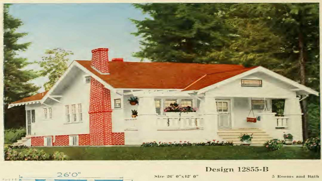 1900 craftsman bungalow house plans kitchens craftsman for Early 1900s house plans