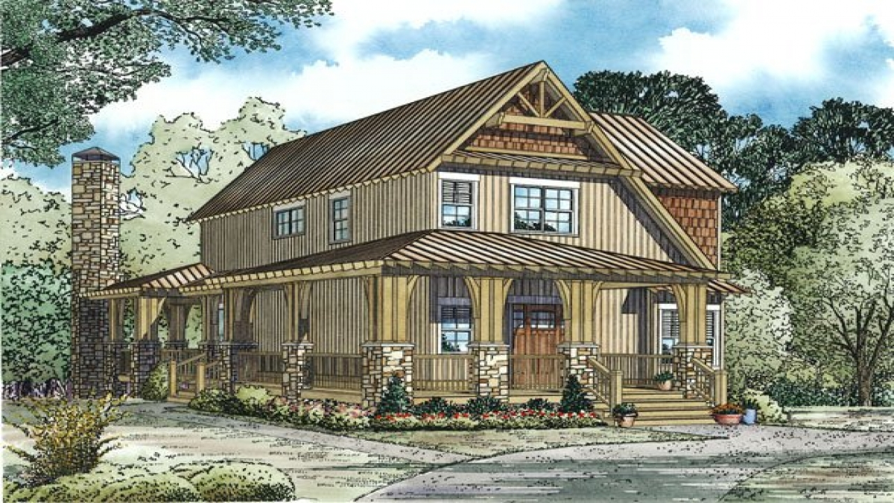 Bungalow house plans with porches bungalow house plans for Retreat house plans
