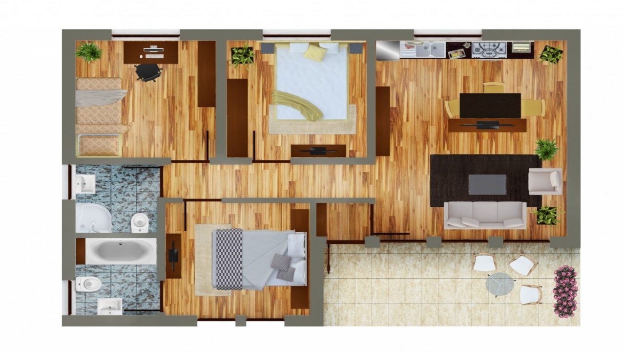 Economic House Plans One Story House Plans With Open