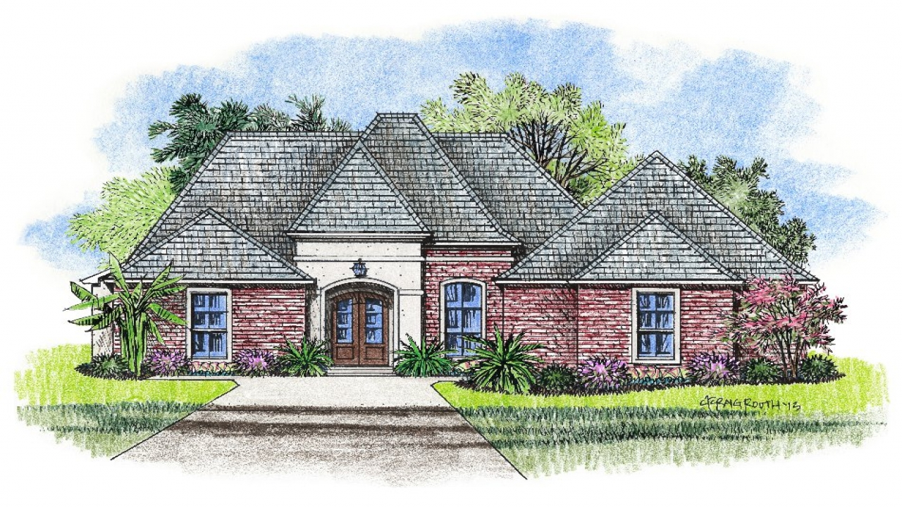 French country louisiana house plans small country house for Louisiana french country house plans