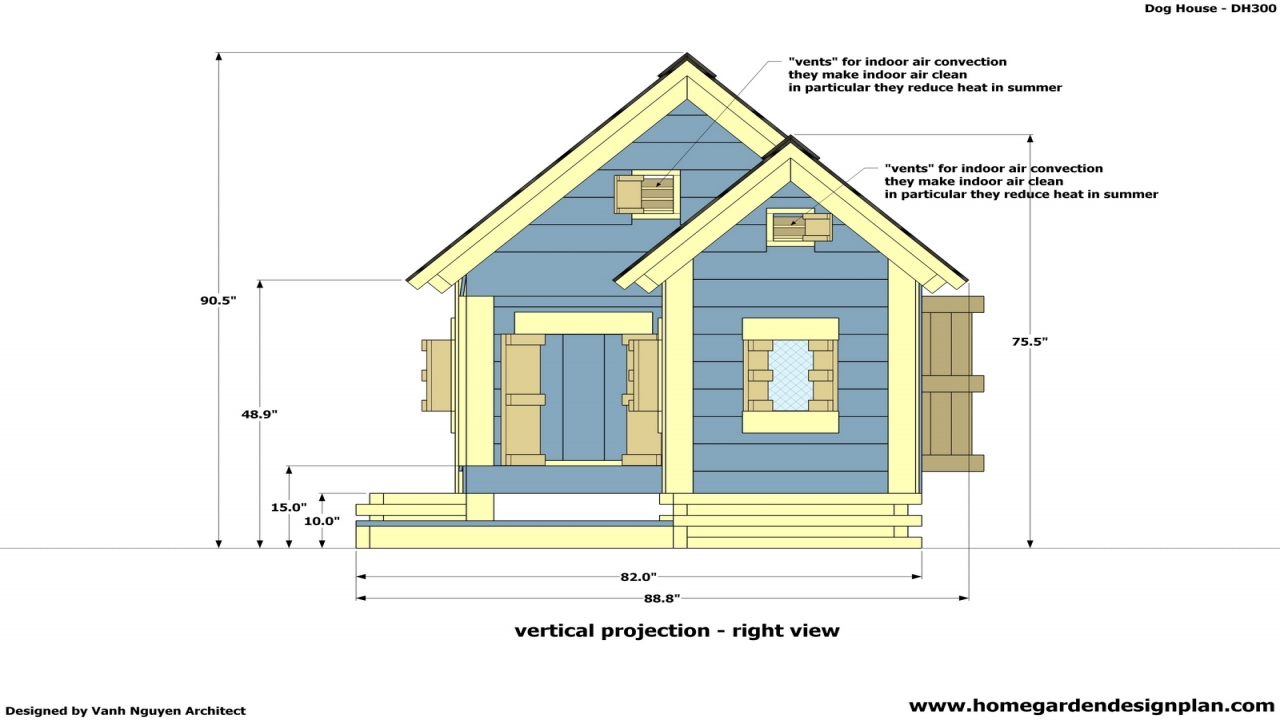 Insulated dog houses for use year round free insulated dog house plans blueprints for houses - Dog house images free ...