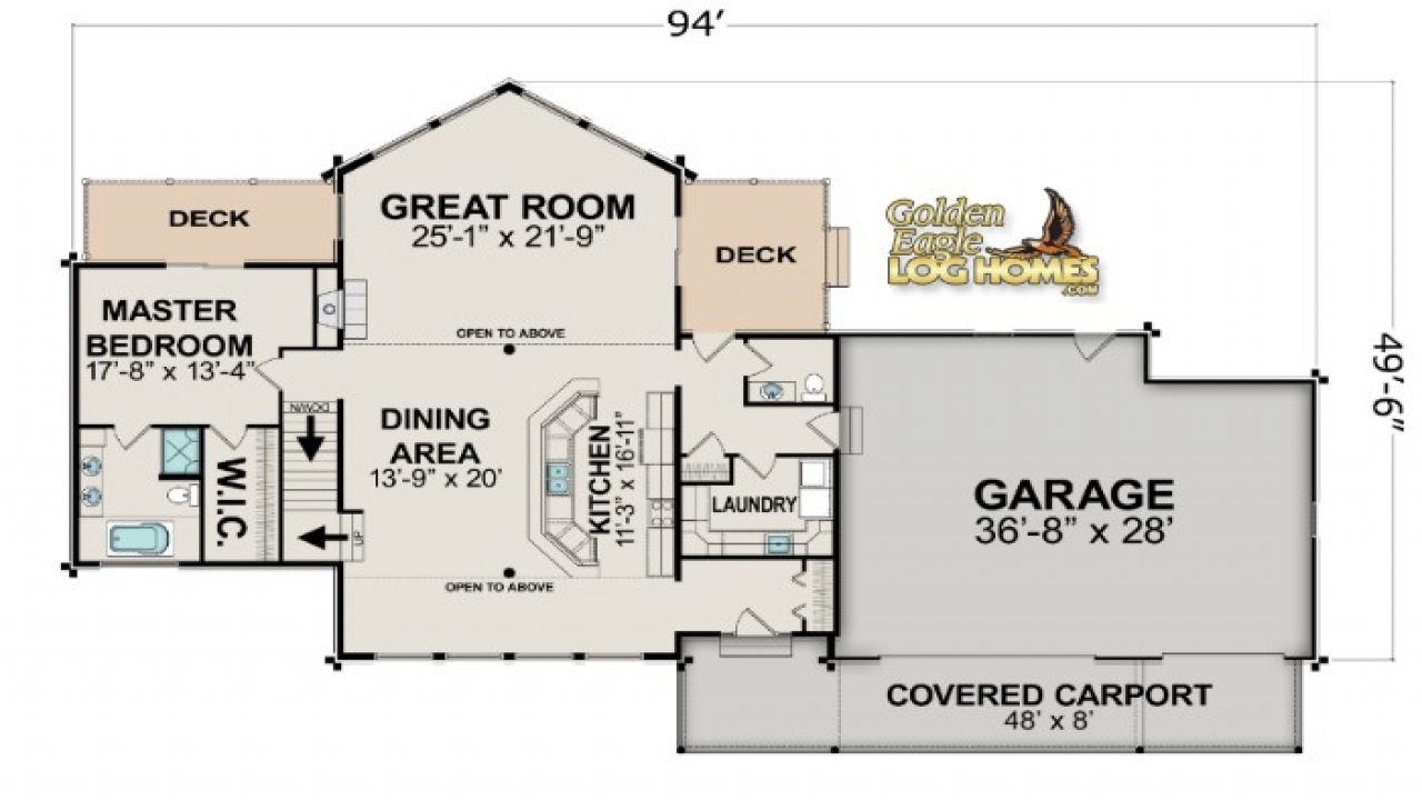 Lake house open floor plans lake house floor plan lake for Lake home floor plans