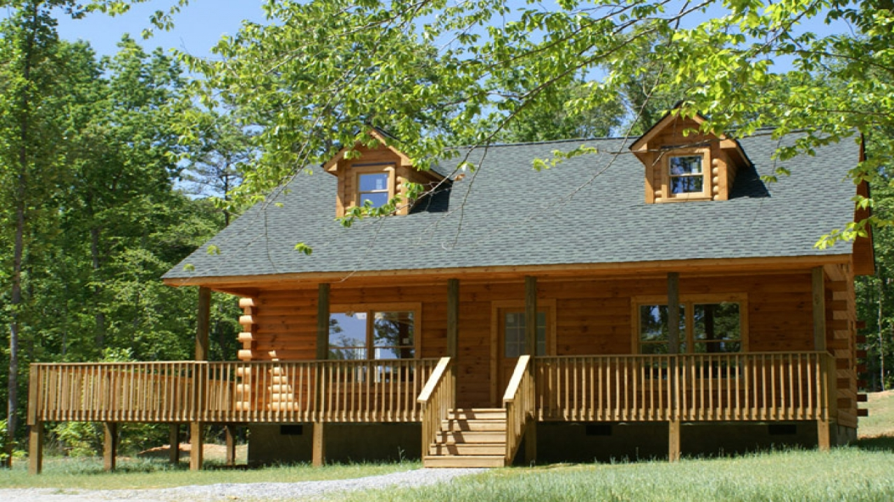 Log cabin style mobile homes manufactured homes modular for Log cabin styles